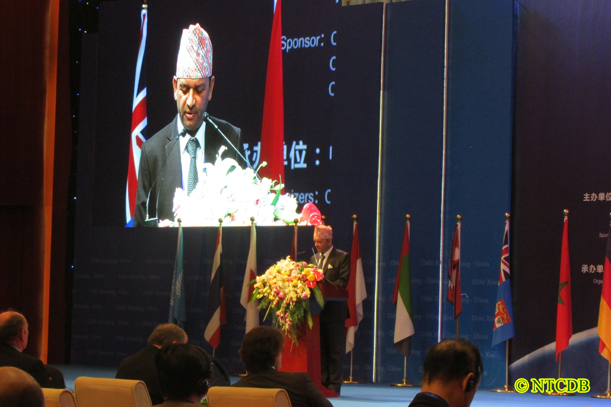 Executive Director Sheshkanta Gautam addressing International Tea Forum, China